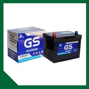 Bình ắc quy GS 70Ah khô 80D26 L/R